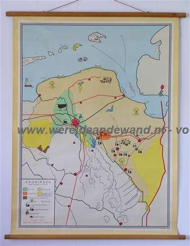 Antiquariaat De Wereld aan de Wand   Wandkaarten Schoolkaarten Schoolplaten Groningen