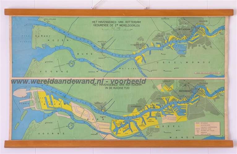 Antiquariaat De Wereld Aan De Wand Wandkaarten Schoolkaarten