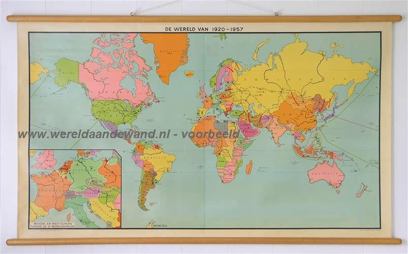 Antiquariaat de wereld aan de wand wandkaarten schoolkaarten schoolplaten - Mand linnen huis van de wereld ...